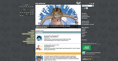 Homepage vom FEZ-Berlin