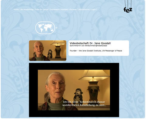Jane Goodall richtet Grüße an HotelGlobal