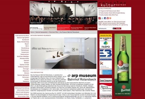Sponsoringangebot ARP Museum Rolandseck