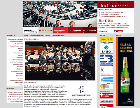 Kulturmarke Dresdner Kreuzchor